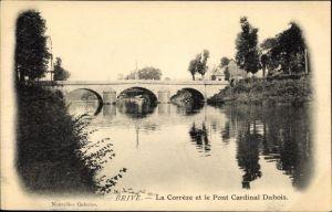 Ak Brive Corrèze, La Corrèze et le Pont Cardinal Dubois