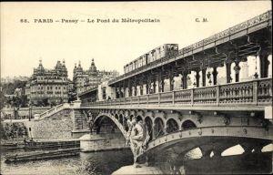 Ak U-Bahn Paris, Le Pont du Metropolitain a Passy