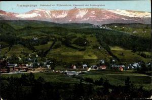 Ak Piechowice Petersdorf Schlesien, Riesengebirge, Wilhelmshöhe, Kiesewald, Schneegruben