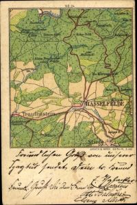 Landkarten Ak Hasselfelde Oberharz am Brocken, Trautenstein, Stiege