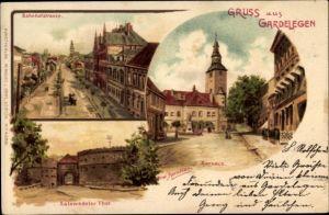Künstler Litho Spindler, Erwin, Gardelegen im Altmarkkreis Salzwedel, Bahnhofstraße, Salzwedeler Tor
