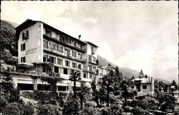 Ak Locarno Kt. Tessin Schweiz, Hotel Albergo Orselina, Bes. A. Amstutz Borsinger