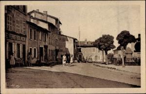 Ak Saint Martin Lestra Loire, Route de Feurs