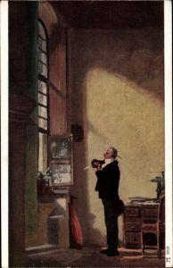 Künstler Ak Spitzweg, Carl, Der Schreiber, Ackermann 3028