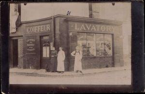 Foto Ak Coiffeur, Lavatory, Friseur, Barbier, Geschäft