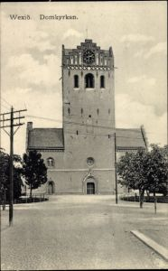 Ak Wexiö Växjö Schweden, Domkyrkan, Blick auf die Kirche