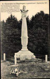 Ak Altenbergen Leinatal in Thüringen, Blick auf den Kandelaber, Denkmal