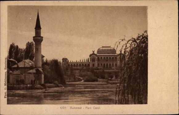 Ak București Bukarest Rumänien, Park Carol 0