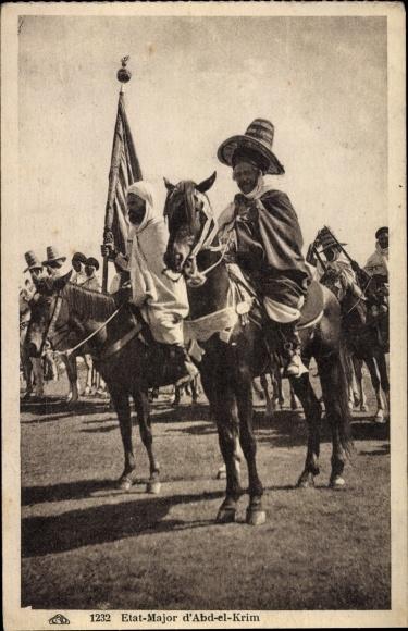 Ak Marokko, Etat Major d'Abd el Krim, Abd al Karim