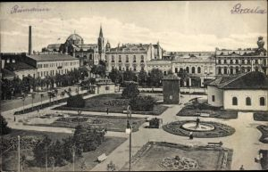 Ak Brăila Rumänien, Schmuckplatz