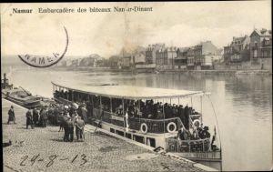 Ak Namur Wallonien, Embarcadere des bateaux Namur Dinant, Anlegestelle, Fähre