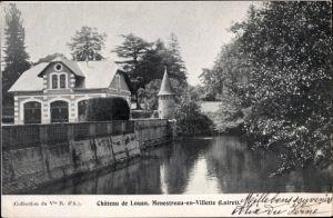 Ak Menestreau en Villette Loiret, Vue du Château de Louan