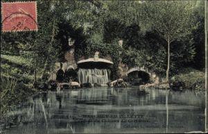 Ak Marcilly en Villette Loiret, Cascade du Château de Cerf Bois