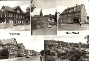 Ak Viernau Steinbach Hallenberg im Thüringer Wald, Gasthaus Thüringer Wald, Gaststätte Grüner Baum