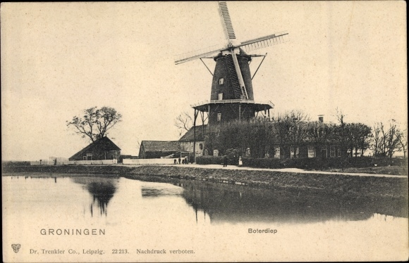 Ak Groningen Niederlande, Boterdiep