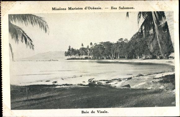Ak Iles Salomon Ozeanien, Missions Maristes d'Océanie, Baie de Visale