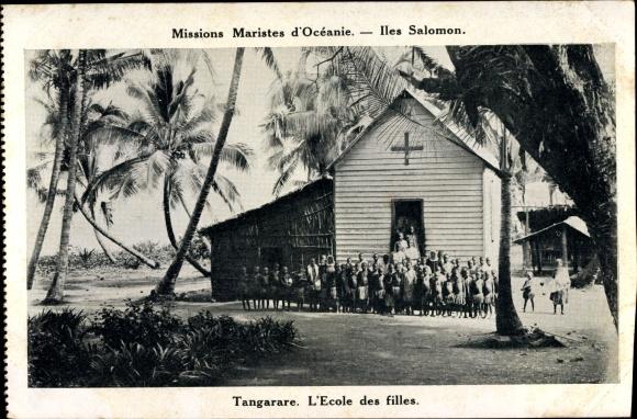 Ak Iles Salomon Ozeanien, Missions Maristes d'Océanie, Tangarare, l'Ecole des Filles