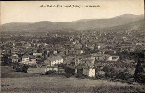 Ak Saint Chamond Loire, Vue Generale