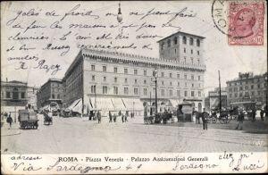 Ak Roma Rom Lazio, Piazza Venezia, Palazzo Assicurazioni Generali