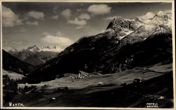 Foto Ak Warth in Vorarlberg, Panorama