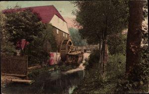Ak Blick auf eine Wassermühle
