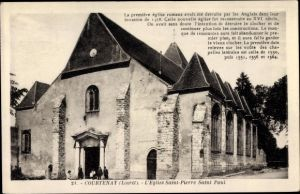 Ak Courtenay Loiret, L'Église Saint Pierer Saint Paul