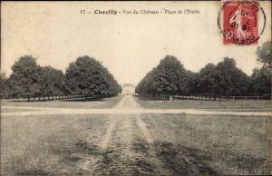 Ak Chevilly Loiret, Vue du Château, Place de l'Étoile