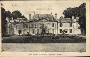Ak Chevilly Loiret, Facade du Château