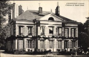Ak Courtenay Loiret, Château de Sainte Anne