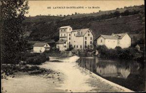 Ak Lavault Sainte Anne Allier, Le Moulin