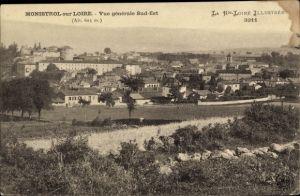 Ak Monistrol sur Loire Haute Loire, Vue générale