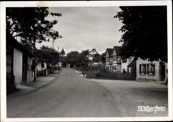 Ak Wildenstein Fichtenau Baden Württemberg, Straßenpartie