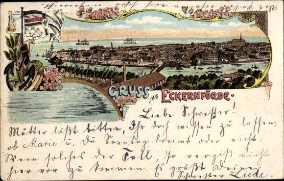 Litho Eckernförde in Schleswig Holstein,