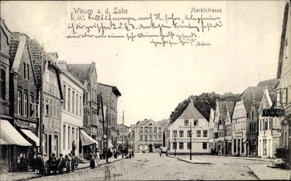 Ak Winsen an der Luhe, Marktstraße