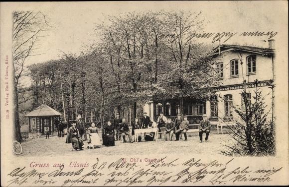Ak Ulsnis in Schleswig Holstein, H. Ohl's Gasthof