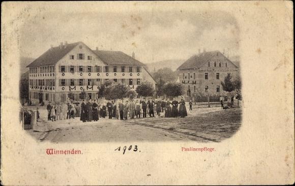 Ak Winnenden Baden Württemberg, Paulinenpflege, Wohnhaus des Inspektors