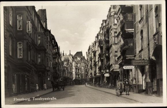 Ak Flensburg in Schleswig Holstein, Toosbüystraße