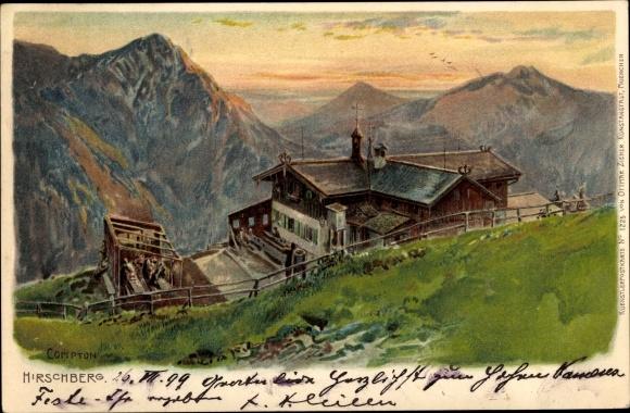 Künstler Litho Compton, Bad Wiessee in Oberbayern, Hirschberg