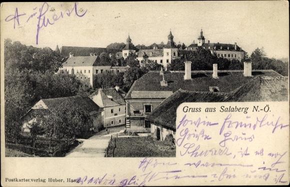 Ak Salaberg Niederösterreich, Ortschaft, Schloss