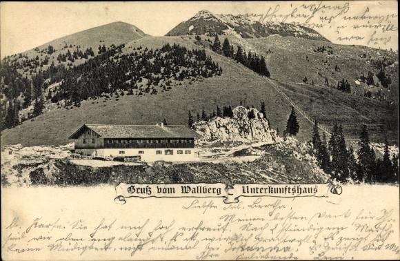 Ak Rottach Egern in Oberbayern, Wallberg Unterkunftshaus