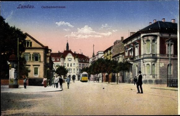 Ak Landau in der Pfalz, Ostbahnstraße