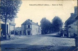 Ak Vallon en Sully Allier, Route de Paris