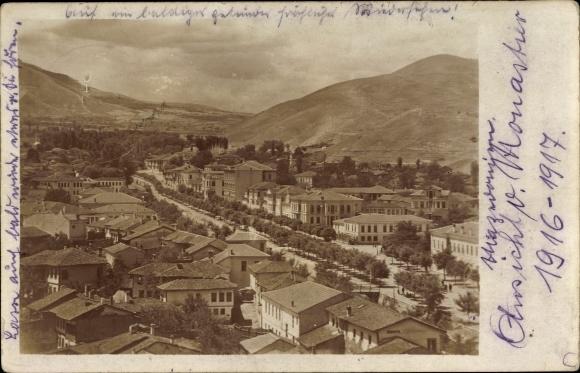 Foto Ak Bitola Monastir Mazedonien, Gesamtansicht