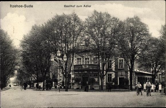 Ak Sude Itzehoe in Schleswig Holstein, Gasthof zum Adler