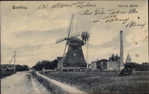 Ak Garding in Nordfriesland, Herrenmühle, Windmühle