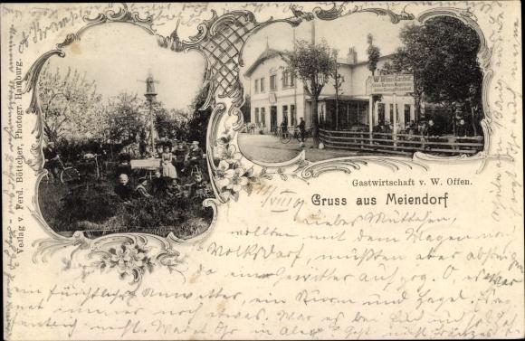 Ak Hamburg Rahlstedt Meiendorf, Gastwirtschaft