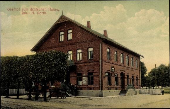 Ak Stelle im Kreis Harburg, Gasthof zum deutschen Hause
