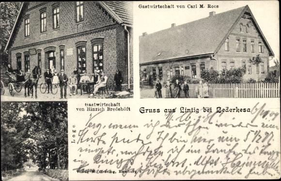 Ak Lintig Bad Bederkesa Geestland Niedersachsen, Gastwirtschaft, Loge