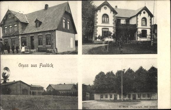 Ak Rabenkirchen Faulück in Schleswig Holstein, Wohnhäuser, Gehöft