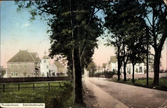 Ak Nordenham im Oldenburger Land, Bahnhofstraße